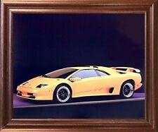 Lamborghini SV Diablo Racing Sports Car Mahogany Framed Picture Art Print 18x22