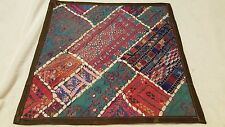 4 cushion covers hand crafted decorative, multicolored,vintage style 15.5 x 15.5