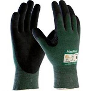 ATG MaxiFlex Cut Resistant 34-8743 Nitrile Foam Palm Coated Work Gloves 6/XS