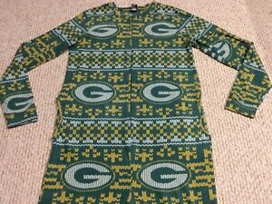 Green Bay Packers Small Coverall NFL Football Baby Full Footed Sleeper Pajamas