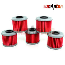 5x Oil Filter For Honda TRX450R TRX 450R TRX450ER 2004 2005 2006 2007 2008 2009