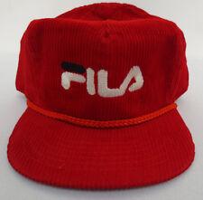 FILA HAT CAP ZIPBACK VINTAGE RETRO CREW MENS AMAPRO VTG CLOTHES CORDUROY TRUCKER
