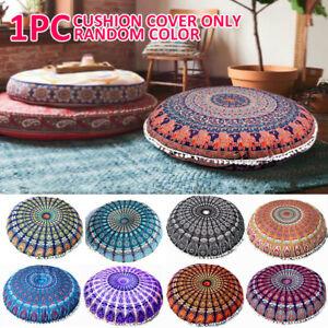 GRANDE Rotondo Mandala meditazione Pavimento cuscini COPRI Pouf Indiano Arazzo