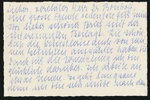 Nelly Sachs: Handschriftlicher Brief mit eigenhändiger Unterschrift (1964).