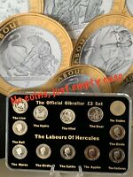 2020 Gibraltar £2 Coin Labours Of Hercules Empty Display Case + Stand (NO COINS)