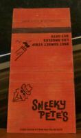 Vintage Matchbook Cover Z6 Los Angeles California Sunset Strip Sneeky Pete's Hat