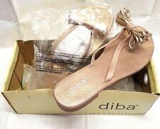 Diba Kling On Sandal Woman's Sz 7 Metallic Gold Flip Flop Thong Soft Foot Bed