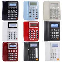 Home Office Desktop Corded Landline Telephone Caller ID LCD Display Speakerphone