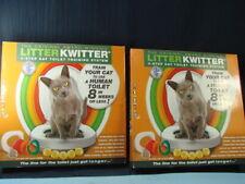 2 New Litter Kwitter 3-Step Cat Bathroom Training System