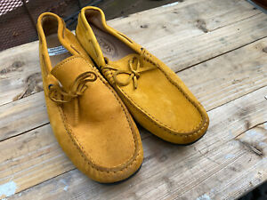 Tods Men's Nubuck Leather Drivers Loafers Size 8.5