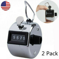 Hand Tally Counter 4 Digit Number Golf Mechanical Palm Clicker Counter 2 Pack US