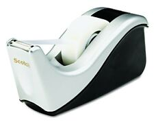 Scotch Desktop Tape Dispenser Silvertech Two-Tone C60-ST - Free Shipping - New