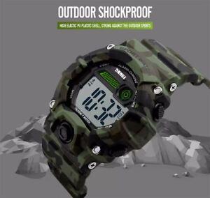 Skmei Large Display Digital Watch Loud Alarm Talking 50m Sports Watch UK Seller
