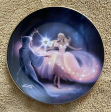"""Franklin Mint Heirloom Cinderella Collector Plate """"Fairy Godmother's Magic"""""""