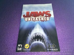 Jaws Unleashed PS2 Manual ONLY Free Shipping PlayStation Majesco M-Mature17+