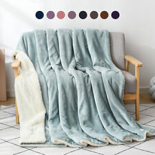 Weighted Warm Revisible Throw Blanket Cashmere Velvet Bed Sofa Bedding Blanket