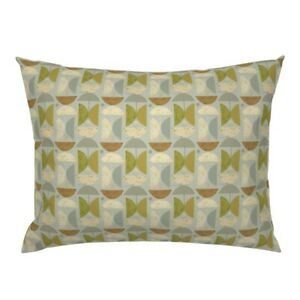 Mid Century Modern Retro Geometric Mod Shapes 1960' Pillow Sham by Roostery