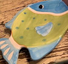 Dennis East Ceramic Fish Plate Or Decor