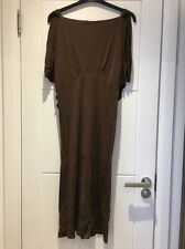 Yigal Azrouel Dress Brown Drapey V Back 0 XS S Small