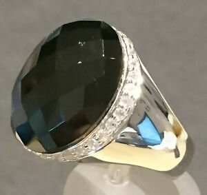 Spinell Designer Ring von Kerstin Michaelsen Gr. 57 Ø18,1mm 925 Silber rhod