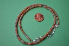 "42.00ct  17""  Natural Ethiopian Welo Opal Necklace 3.0 - 5.0 mm Rondelle Beads"