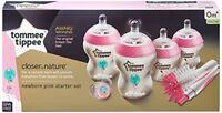 Tommee Tippee Closer to Nature Newborn Bottle Starter Set - Pink