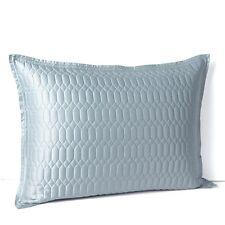 (2) Hudson Park FACETS Quilted Standard Pillowshams Baltic Blue PAIR $230 New