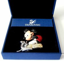 "Signed Swarovski Brooch Pin Mickey Mouse ""It Started With A Mouse"" Box COA"