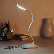 Flexible Arm LED Table Desk Lamp Touch Sensor Adjustable Bright USB Rechargeable