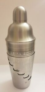 Royal Dial A Drink Cocktail Mixer Stainless Steel Martini Shaker Recipes 2006
