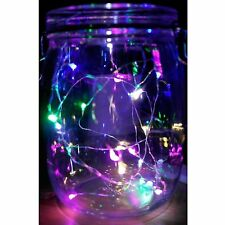 4 Sets Rainbow LED Mini Micro String Lights Battery Wire Powered Operated Crafts