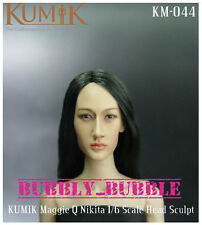 KUMIK Maggie Q Nikita 1/6 Scale Head Sculpt For Hot Toy Phicen SHIP FROM USA