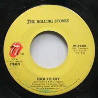 Rock 45 The Rolling Stones - Fool To Cry / Hot Stuff On Promopub