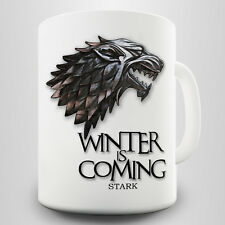 Winter Is Coming Gift Mug - Dire wolf & Stark quote inspired by Game of Thrones