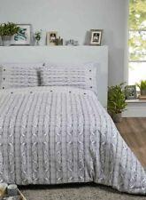 Arran Knit Print Grey White 100 Brushed Cotton King Size Duvet Cover