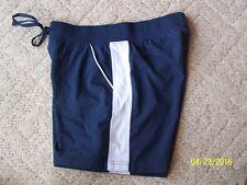 Girls Tek Gear athletic shorts size Medium Navy Blue & White polyester & spandex