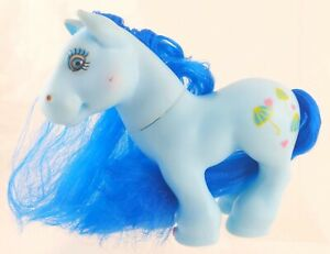 "Gi-Go Small 6"" CPK Style Pony Blue w/ Umbrellas Symbol"