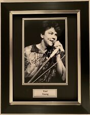 PAUL YOUNG HAND SIGNED FRAMED PHOTO DISPLAY - WHEREVER I LAY MY HAT - PROOF 1.