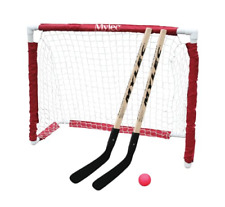 Hockey Goal Set Street Sticks Ball Net Outdoor Sports Kids NHL Folding Equipment