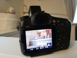 Sony Alpha SLT-A77V  With 55-200mm Sony Lens 24.3MP digital camera