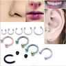 10pc Body Piercing Surgical Steel Horseshoe Bar - Lip Nose Septum Ear Ring