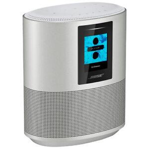 Bose Home Speaker 500 Wireless Speaker with Amazon Alexa, Luxe Silver, Single