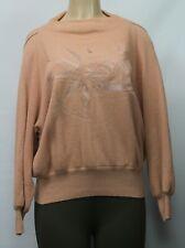 Dino Valiano Vintage Germany Sweater Embroidered Merino Wool Angora Tan Sz D/42