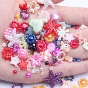 Imitation Pearls Crafts White Half Pearl Resin Rhinestones Beads DIY Decoration