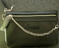 Genuine Guess Black Wristlet with chain detail. Original rrp £55