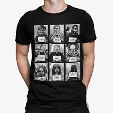 T-shirt Halloween Police Mug Shot Monster Horror Tee Funny Cool Retro Gift UK