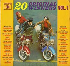 "COMPILATION ""20 ORIGINAL WINNERS"" DOO WOP 60'S LP ROULETTE 25249 POCHETTE MOTO !"