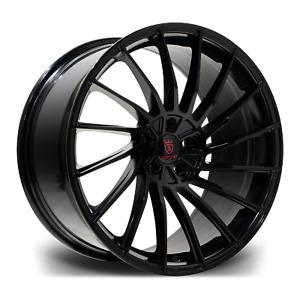 """20"""" Stuttgart SF16 Alloy Wheels Black 5x120 WIDE REAR fits BMW 5 Series F10 F11"""