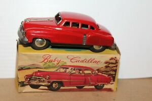 VERY NICE 1950'S SSS TOYS TIN FRICTION BABY CADILLAC with BOX