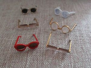 6 Pair SUNGLASSES To Fit Barbie, Fashion Royalty Dolls
